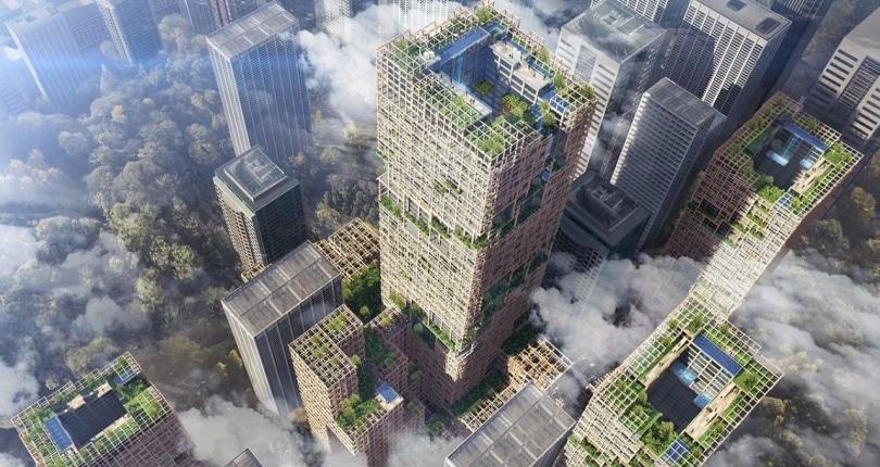 東京擬建350米高木造摩天大樓 比鋼製大廈更環保、更防震